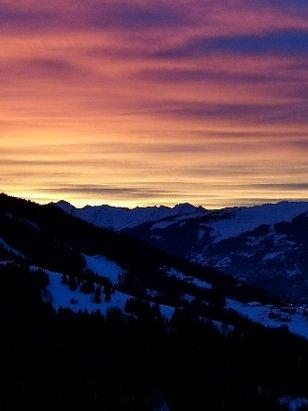Peisey Vallandry - Coucher de soleil sur la Vall - © anonyme