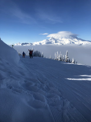 Crystal Mountain - Sunshine and pow. Little bit of fog but good all day.  - © TJB