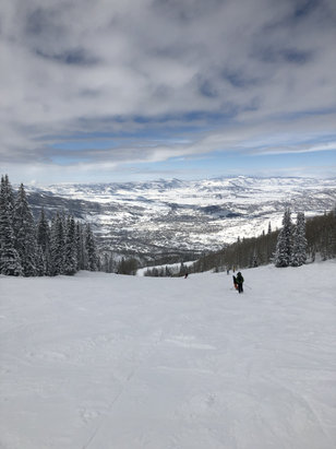 Steamboat - Steamboat is fantastic!! Over 100 inch base..  plenty of great skiing for anyone!! - © Michael's iPhone