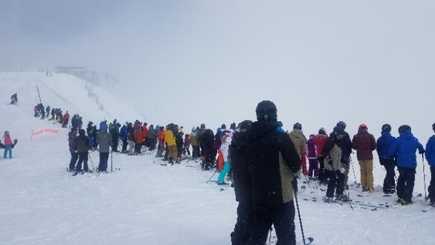 Snowbird - Waiting for Mineral Basin to open. It was heavenly! - © anonymous