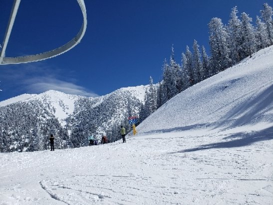 Arizona Snowbowl - Amazing day, insanely good spring conditions! No icy spots, plenty of powder, and no lines - © kbritt