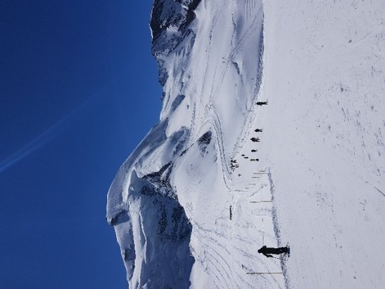 Saas Fee - A beautiful day for Skiing at the top of SaaS Fee - © Tony