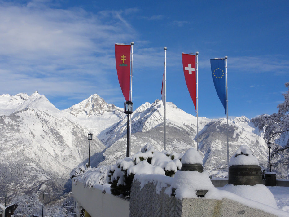 Blick zum Bietschhorn - © Unterbäch Tourismus