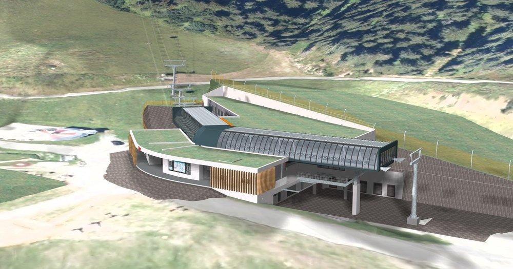 Neue Mittelstation der 12er Kogel Gondel in Hinterglemm - © Skicircus Saalbach Hinterglemm Leogang Fieberbrunn