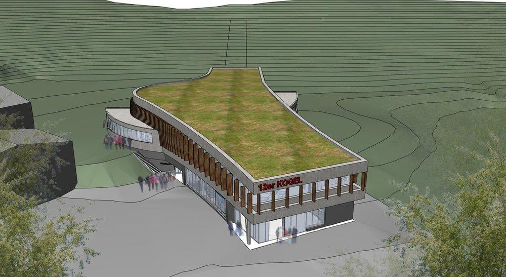 Nová nástupná stanica 12-miestnej lanovky v Skicircuse - vizualizácia  - © Skicircus Saalbach Hinterglemm Leogang Fieberbrunn