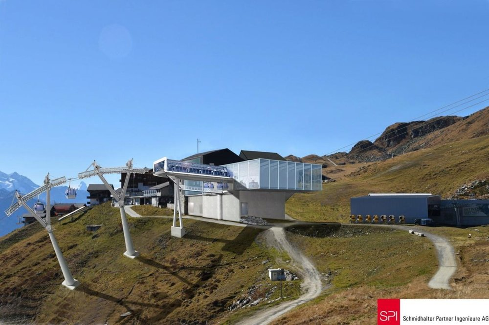 Výstupná stanica novej gondoly vo Fiesch (Aletsch Arena) - © Aletsch Arena