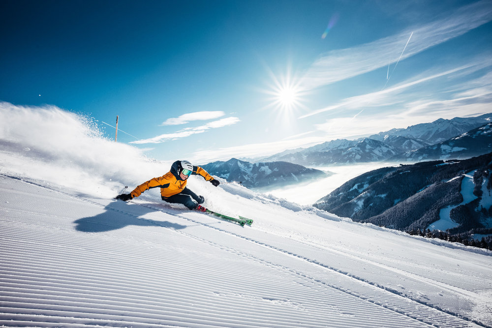Skifahren im Winterurlaub auf der Schmittenhöhe