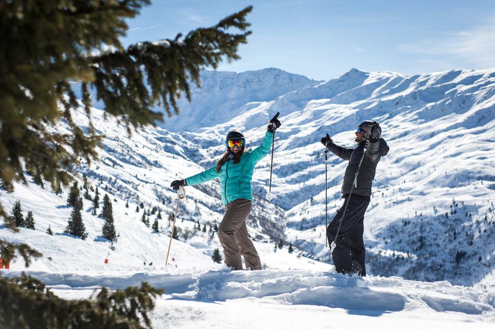 Encore une belle journée en perspective sur le domaine skiable de Valmeinier - © A. Pernet / OT de Valmeinier