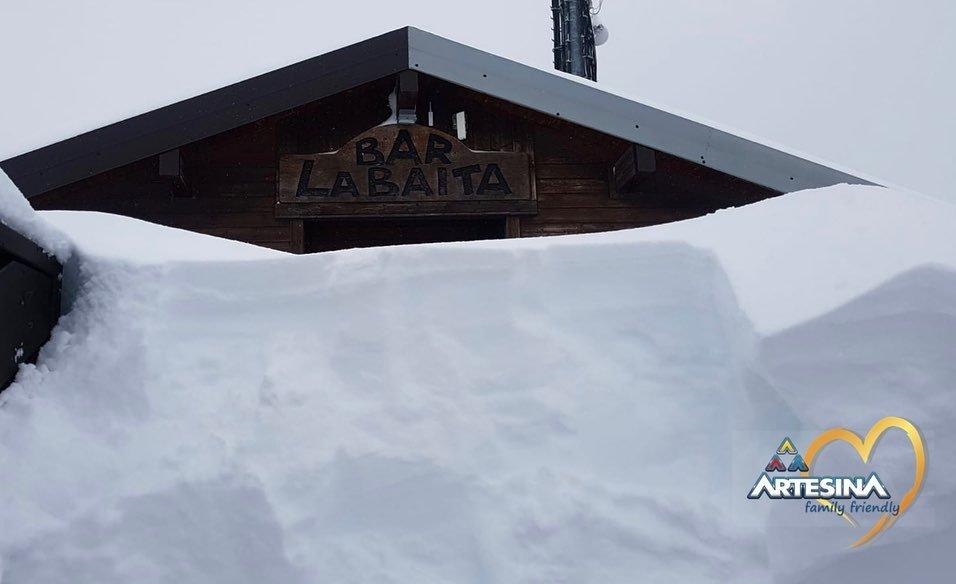 Una fitta nevicata anche ad Artesina! 18.11.2019 - © Artesina MondolèSki Facebook
