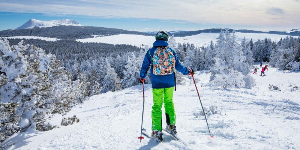 Sur les pistes de ski de la station des Estables - © Facebook @MezencLoireMeygal