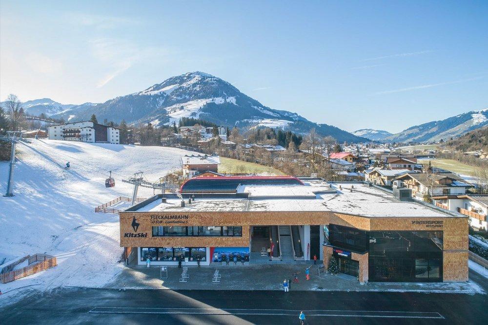 Die neue Talstation der Fleckalmbahn in Kirchberg - © Bergbahn AG Kitzbühel | Michael Werlberg