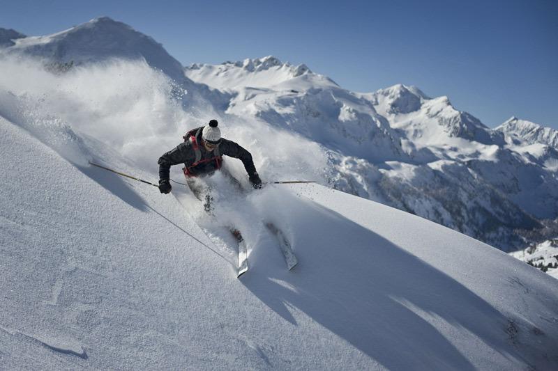 Freeriden am Hundskogel - mit Rocker-Ski - © Skylotec