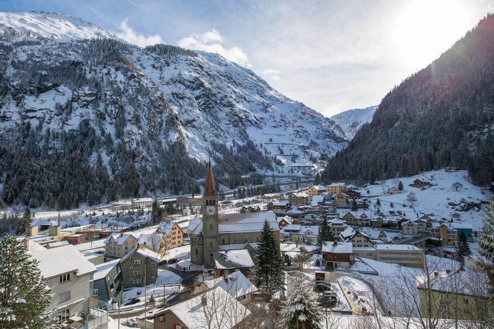 Göschenen ist ein kleines Dorf im oberen Reusstal - © SkiArena Andermatt-Sedrun