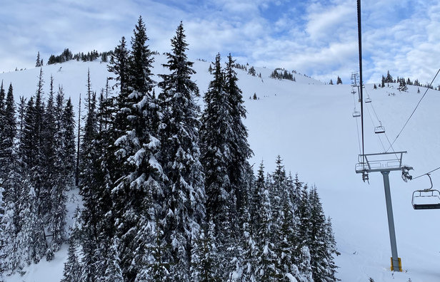 Sun Peaks - Blustery day. Sun, clouds and high winds.  - © Anonymous