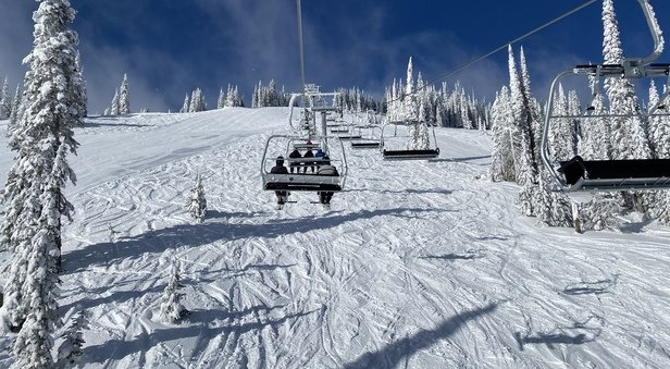 Sun Peaks - Resort living up to its moniker. Superb day of skiing. - © Red B