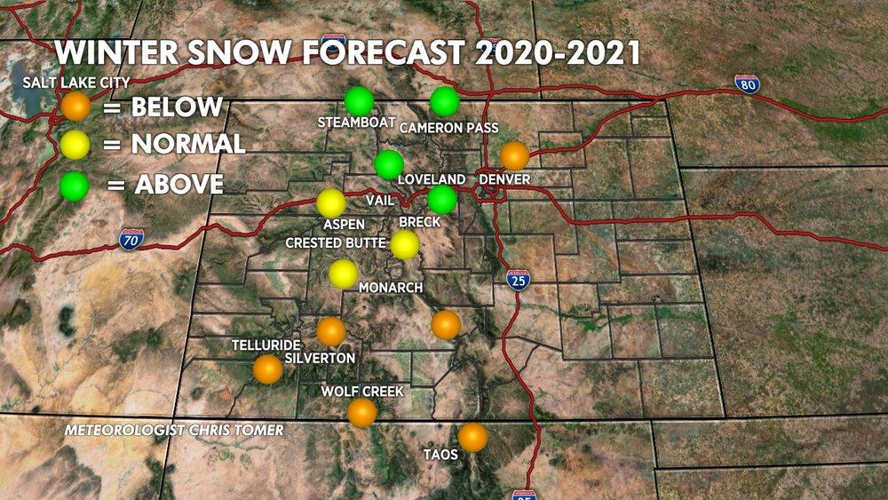 Meteorologist Chris Tomer's forecast for winter 20/21 - © Chris Tomer