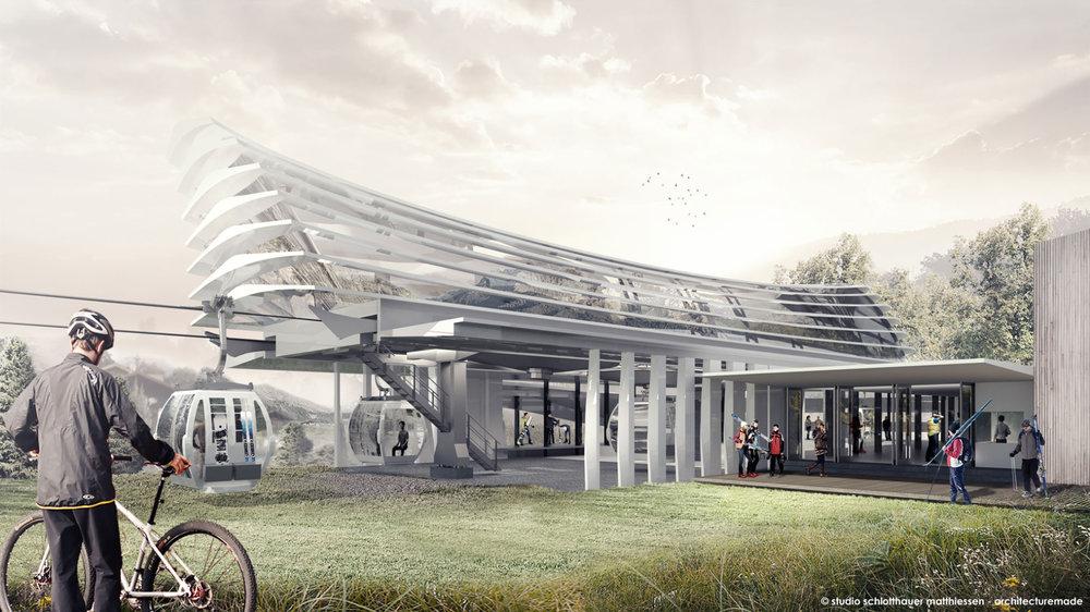Ein architektonisches Meisterwerk: So soll die neue Talstation am Kronplatz aussehen - © studio schlotthauser matthiessen - architecturemade