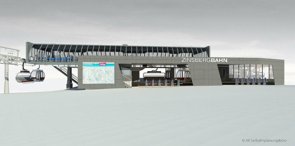 Die SkiWelt investiert 15,5 Millionen Euro in die neue Zinsbergbahn - © © AB Seilbahnplanungsbüro/SkiWelt Wilder Kaiser