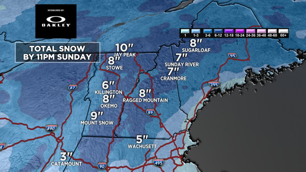 Snow is headed for the Northeast for the first weekend of January - © Meteorologist Chris Tomer
