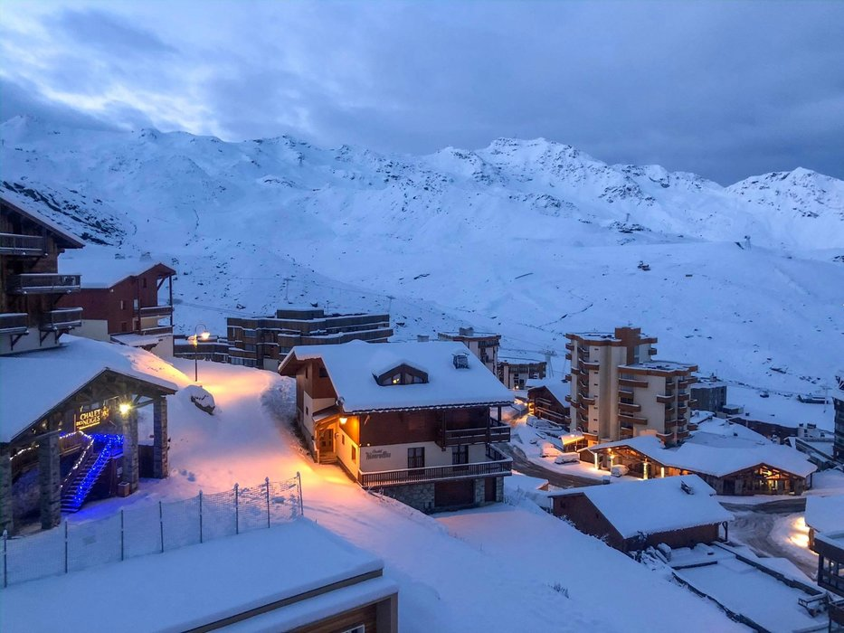 Snowy morning in Val Thorens today (5/11/19) - © Val Thorens/Facebook