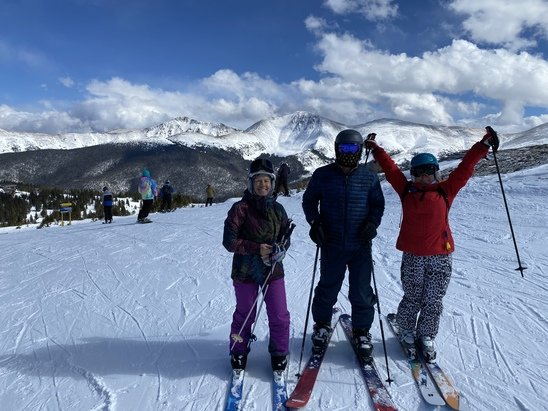 Winter Park - No new snow but did find some soft untracked snow off Eagle Wind. Best snow today. Needleseye bumps still good too. Another sunny fab day!  - © PatD