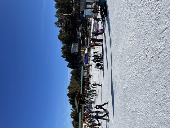 Angel Fire Resort - Packed groomed runs. Turned from ice to soft after 11am. Slush after 2pm.  - © L. Patt