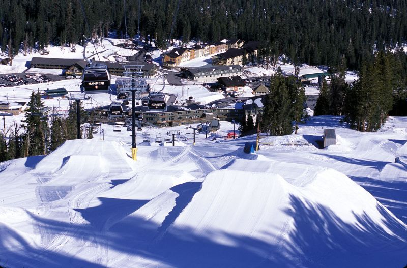 Terrain park in Mammoth Mountain, California
