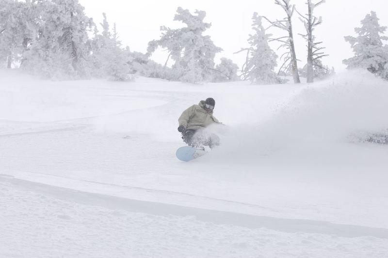 Powder in Snow Summit, California
