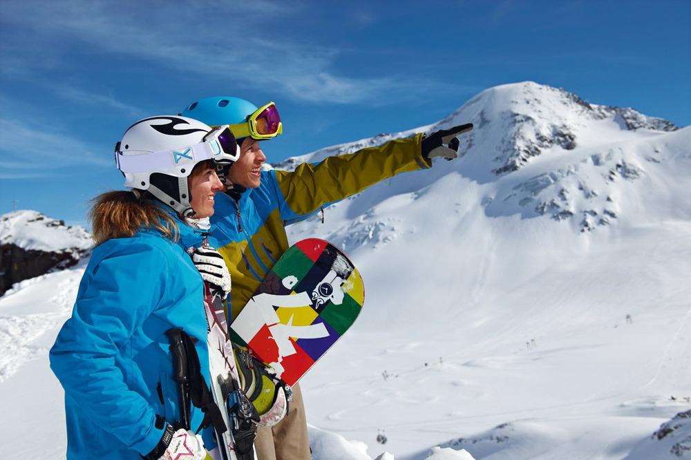 Wintersporters in het Kaunertal - © Kaunertaler Gletscherbahnen