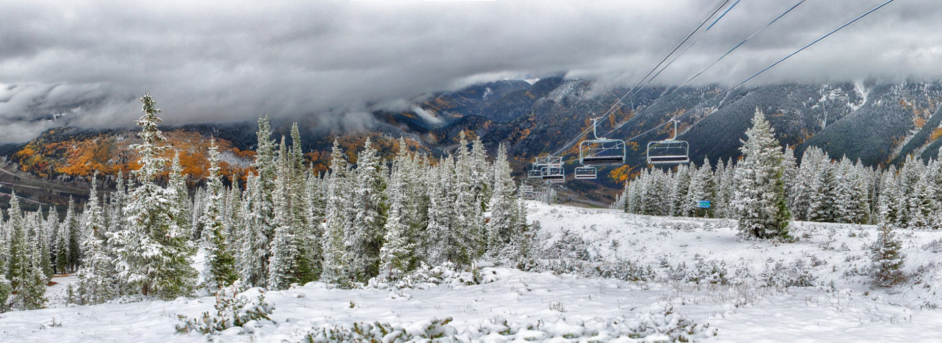September snowfall at Copper Mountain - © Tripp Fay