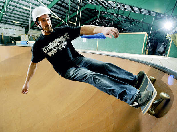 Seth skates at the antigravity complex at Sugarloaf Resort - © Sugarloaf Resort