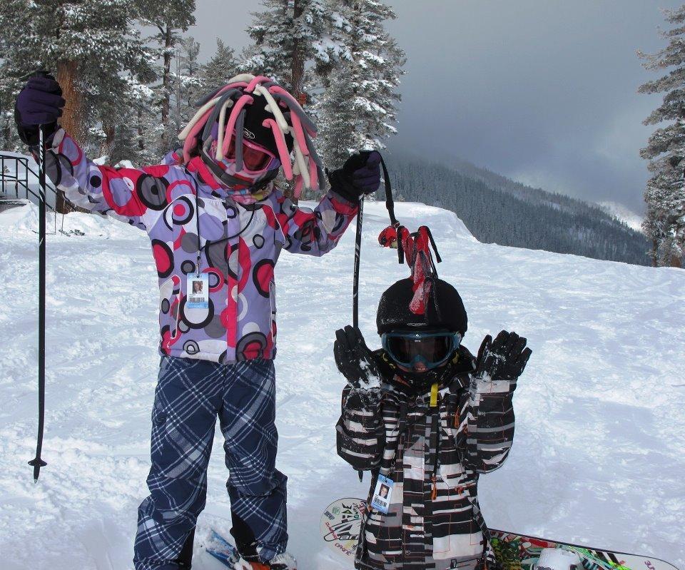 Kids enjoying the powder up at Sierra-at-Tahoe last season - ©Credit: Sierra-at-Tahoe