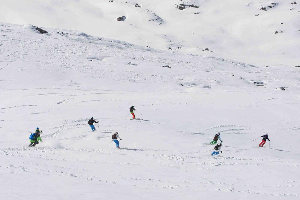 All Mountain Testgruppe im Einsatz