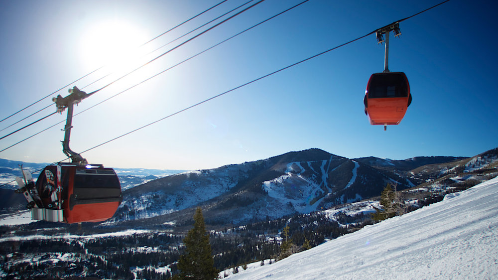 Heading up the gondola at Canyons Resort in Park City - © Courtesy of Canyons Resort. Photographer, Rob Bossi
