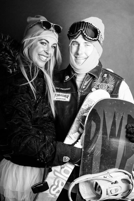 Gretchen Snyder and David Pleshan / Arapahoe Basin Opening Day 2012 - ©Liam Doran