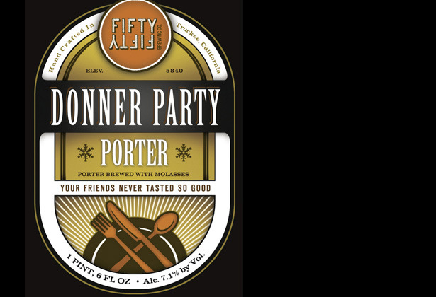 Donner Party Stout by FiftyFifty Brewing Co., 6.7% ABV (Truckee, Calif.) - © FiftyFifty Brewing Co
