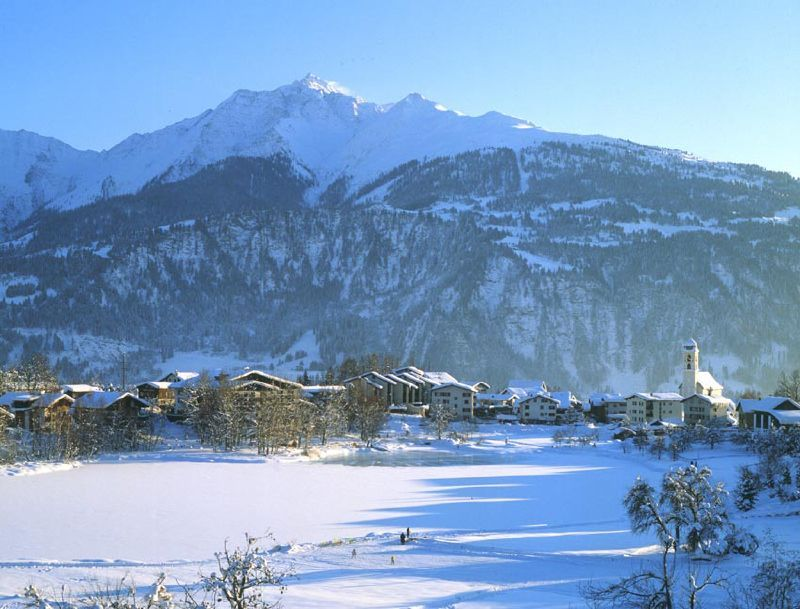 The scenic village of Laax, SUI