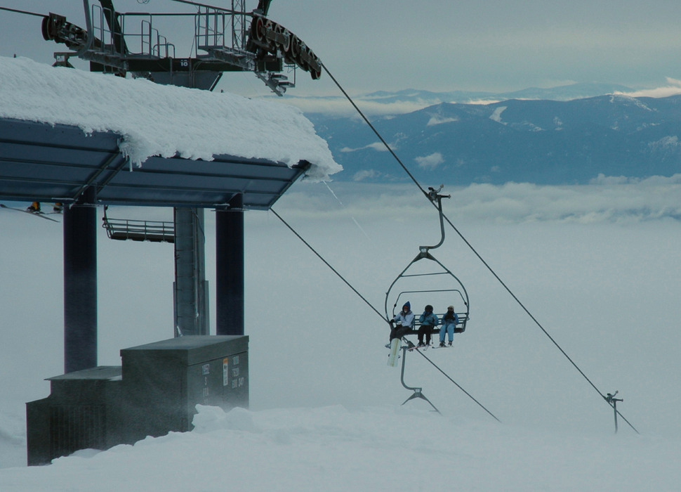 Top of the Great Escape Chair at Schweitzer Mountain Resort. Photo by Becky Lomax. - © Becky Lomax