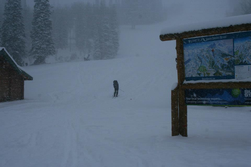 Grand Targhee gets snow from Winter Storm Brutus. Photo:Grand Targhee/Facebook