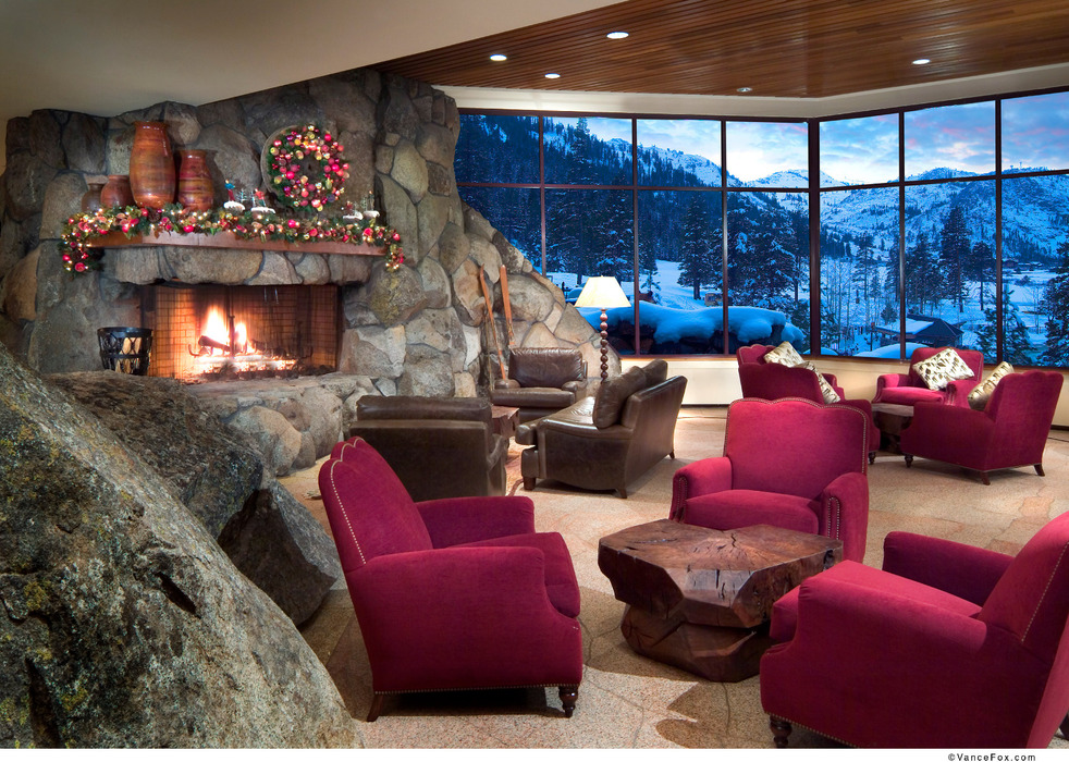 After a long day of skiing the resort is a perfect place to kick back a beer and enjoy the last rays of light as it dances across the mountain. - © Resort at Squaw