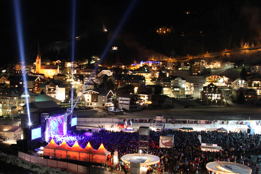 Ischgl's Top of the Mountain Opening Concert (2300m), Austria