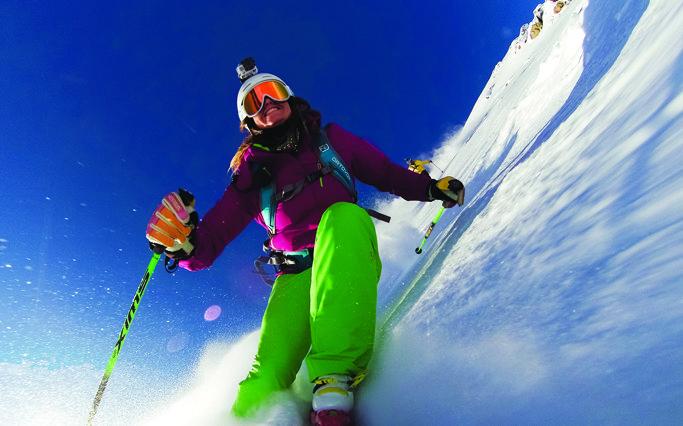 Lyžiarka s GoPro Hero3 - © GoPro.com