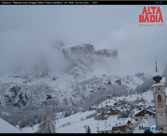 Alta Badia op de webcam op 29 november 2012