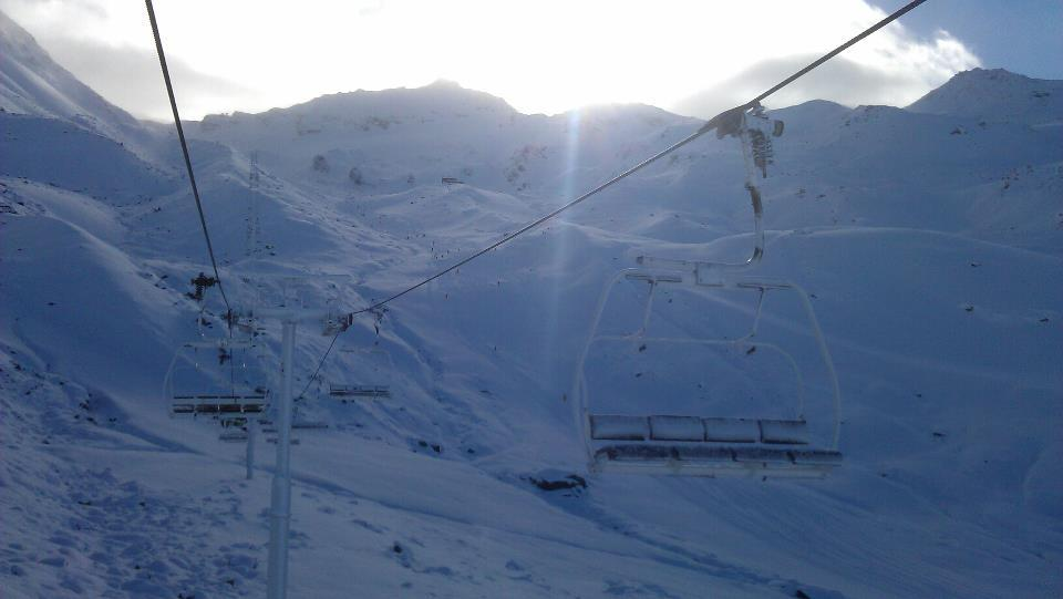Fresh snow in Val Thorens. Dec. 2, 2012 - © Val Thorens