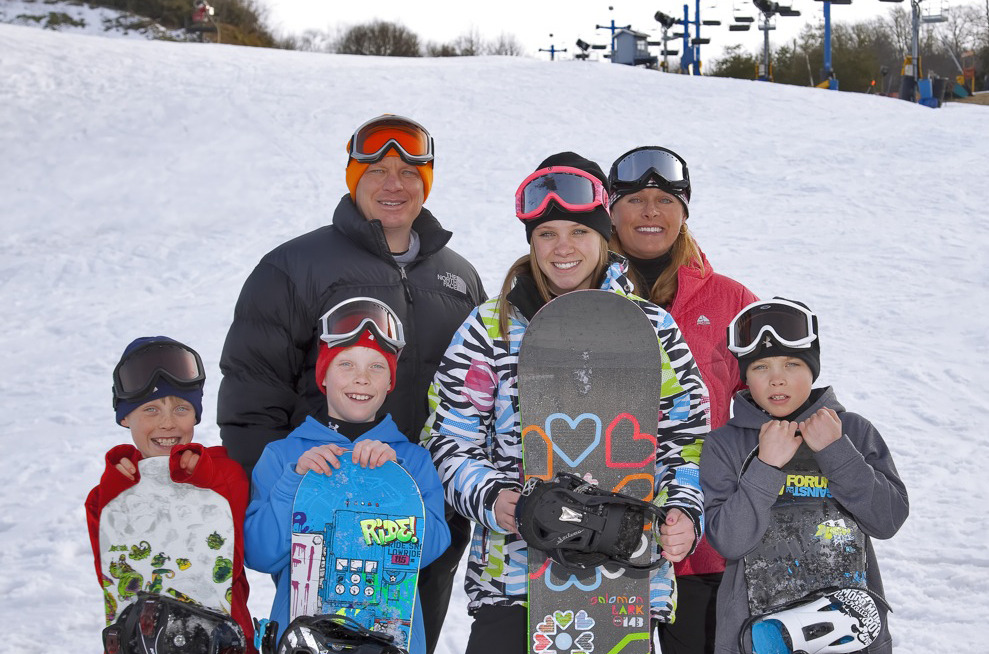 Family of riders at Catalooche. Photo Courtesy of Catalooche Ski Area.