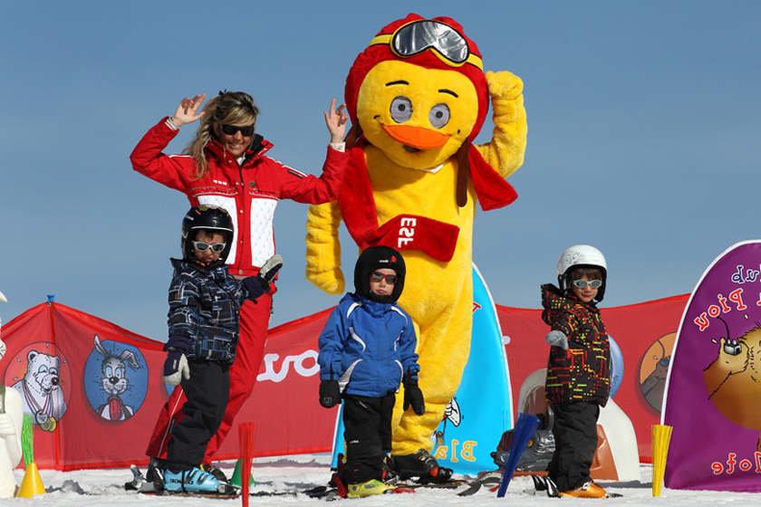 Pour l'apprentissage du ski dans les meilleures conditions, faites appel aux services des écoles de ski - © ESF/Les Menuires