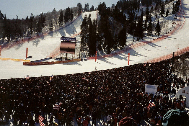 Grizzly Downhill run in Snowbasin during the 2002 Winter Olympics, USA - © Ken Lund
