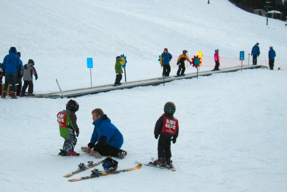 Beginner carpet at Crystal Mountain Resort in Washington. Photo by Becky Lomax. - © Becky Lomax