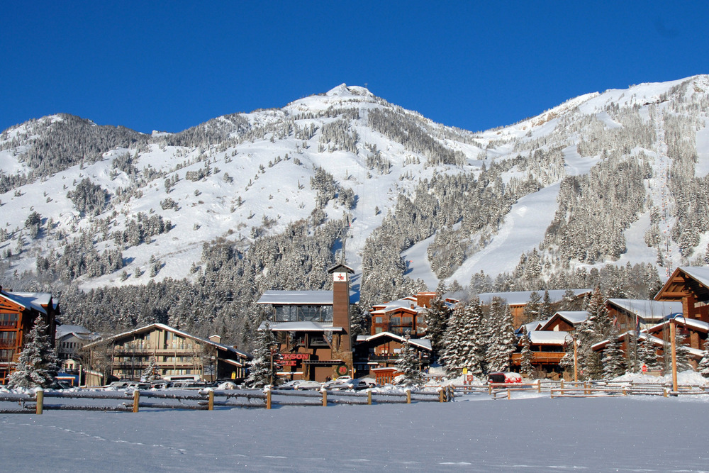 Teton Village at Jackson Hole. Photo courtesy of Jackson Hole Mountain Resort.