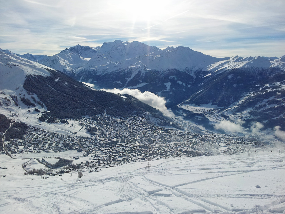 Perfect ski conditions at Verbier. Jan. 11, 2013 - ©Skiinfo